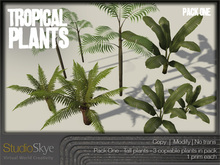 NEW! Tropical Plants Pack #1 from Studio Skye 100%Mesh