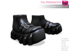 Full Perm Mesh Cyber Boots To Wear Under Pants