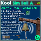 Kool Bell A - Ring all sim + joined sim(s) with 1 bell, no repeaters needed !