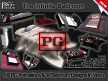 1 Prim Infinite PG Bedroom 100 HQ Motion Realistic Anims (Many Are MoCap)