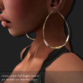 EARRING HOOP-DE GOLD   -RYCA-