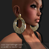 EARRING ICED-PLETED GOLD      -RYCA-
