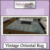 Serendipity Designs - Shabby La La Vintage Oriental Rug