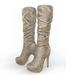Snakeskin wrinkled midcalf boots 1