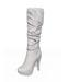 Snakeskin wrinkled midcalf boots 2