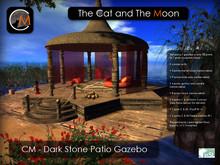 CM - Dark Stone Patio Gazebo (Romantic - Gothic - Vampire)