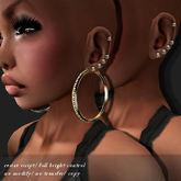 EARRING PID ICED-HOOP GOLD         -RYCA-