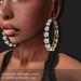 EARRING HOOP DCB GOLD     -RYCA-