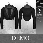 DE Designs - Leather Crop Jacket - DEMO