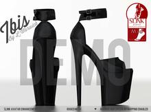[LW] Ibis -Platform Heels- ***NOIR*** (Mesh) BOXED