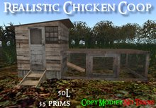 Realistic Chicken Coop - (BOXED)