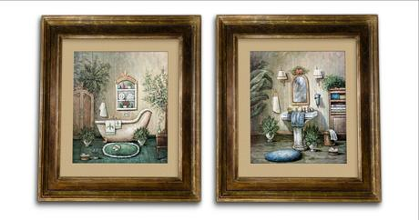Second Life Marketplace Victorian Bathroom Paintings Png File