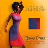 Loovus Dzevavor: Elipses Dress Koolaid