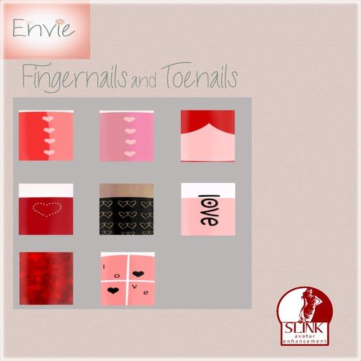 Envie - Fingernails & Toenails - Valentine Set