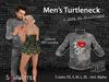 Mens turtleneck girlfriend poster