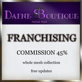 *Dafne Boutique* franchising kit 2014 Casper vendors