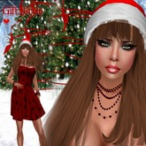 MESH RED DRESS+HAT+NAILS+JEWELRY MESH RED