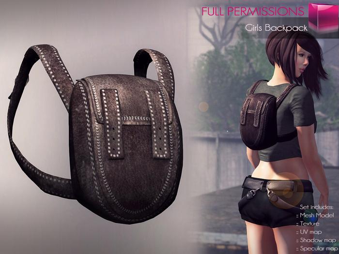 Full Perm Mesh Girls Backpack