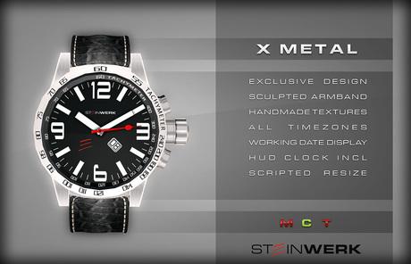 [SteinWerk] - X Metal - working mens watch with sculpted armband