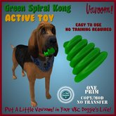 Spiral Kong Green *Vavoom! Active Toy* - Toys and Accessories for Virtual Kennel Club (VKC®) Dogs - No Training Required