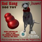 Kong Red Pet Toy by Vavoom! - Toys and Accessories for Virtual Kennel Club (VKC®) Pets - No Training Required