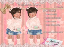 :BB: Floral Owl ToddleeDoo only