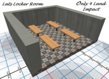 A Changing Room, Dressing Room, Gym or School Locker Room 10m X 10m Four(4) benches  sports, theater or staff unscripted