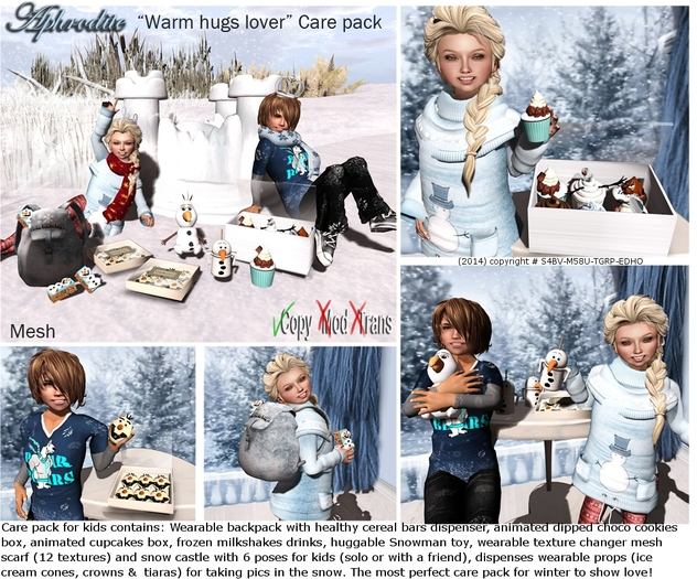 Aphrodite Warm hugs lover Winter care pack for kids special for camping!