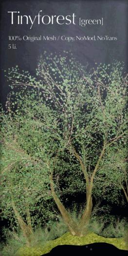 *alirium* tiny forest : green