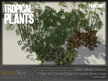 NEW! Tropical Plants Pack #2 from Studio Skye 100%Mesh