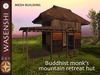 Buddhist Monk Mountain retreat hut