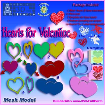 Hearts for Valentine (mesh)BuilderKit-353-FulPerm-Alliance