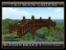 WOODEN BRIDGE - LOW PRIM with 8 soft lights. Comes in 2 versions