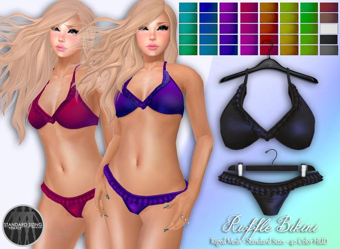 Ruffle Bikini - 40 Colors