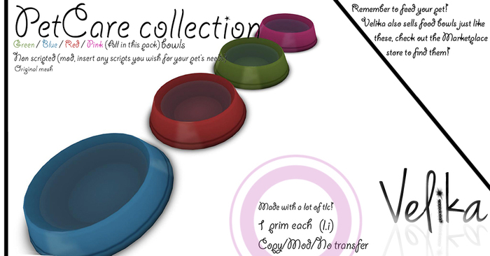 PetCare collection: Mesh Water bowls