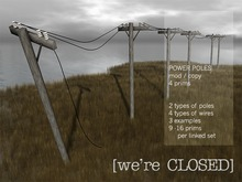 [we're CLOSED] power poles