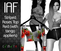 IAF Striped Roses Top Red (with appliers)