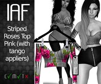 IAF Striped Roses Top Pink (with tango appliers)