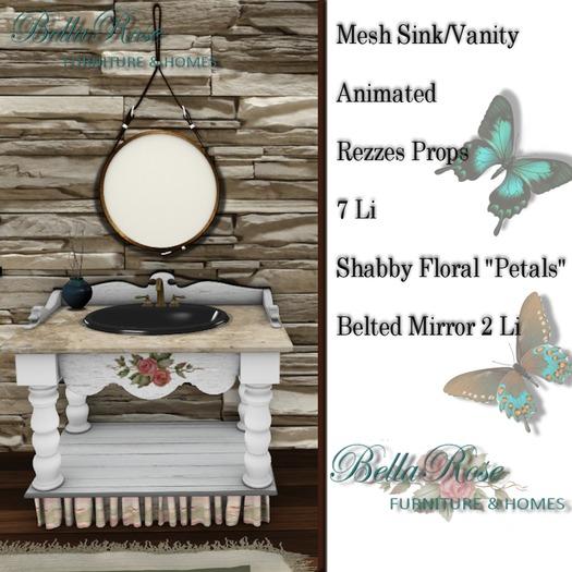 "Bellarose ""Petals"" Vintage Sink Animated"