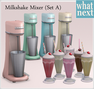 {what next) Milkshake Mixer Set A