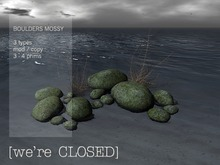 [we're CLOSED] boulders mossy