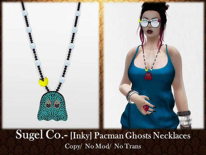 Sugel Co. - [Inky] Pacman Ghosts Necklaces