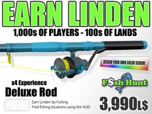 Linden Fish Hunter - Deluxe Rod [Fishing Extended] - Earn Linden hunting for fish