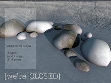 [we're CLOSED] boulders snow
