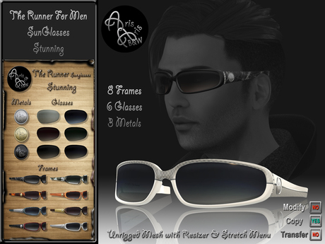 ***Arisaris AA24 The Runner For Men Sunglasses-Stunning