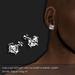 Diamond Stud Earring Square Platinum (M)          -RYCA-