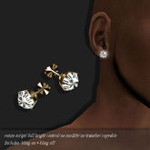 Diamond Stud Earring Gold          -RYCA-