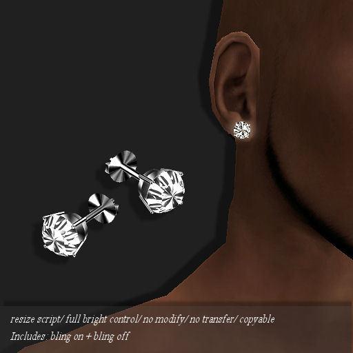 Diamond Stud Earring Platinum (M)        -RYCA-