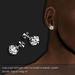 Diamond stud earring platinum