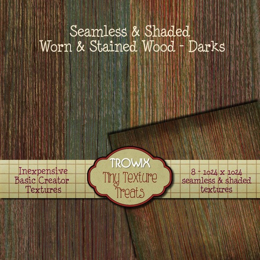 Trowix - Seamless Worn & Stained Wood - Darks Textures